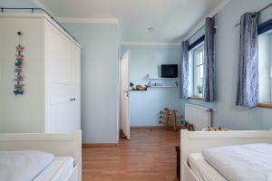 Kinderzimmer im Obergeschoss des Ferienhauses Müller auf Fehmarn
