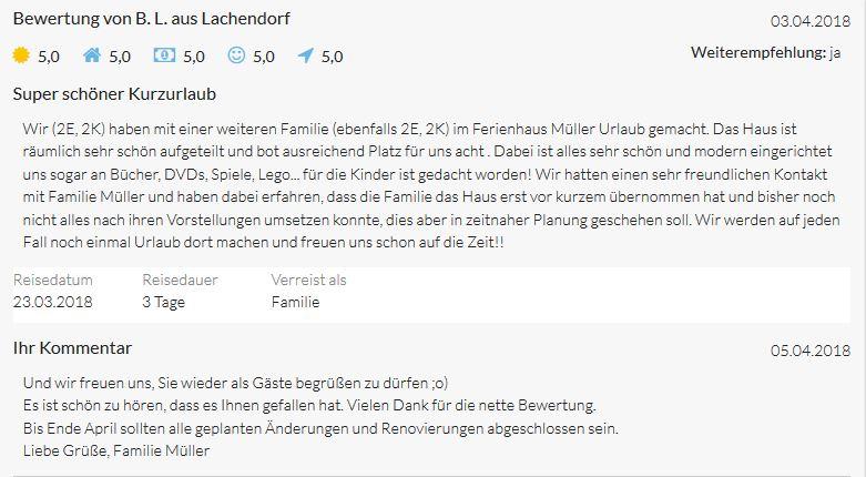 Bewertungen von B.L. aus Lachendorf