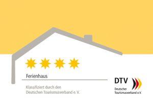 Logo vom DTV (Deutscher Tourismusverband) 4 Sterne Ferienhaus / Ferienwohnung