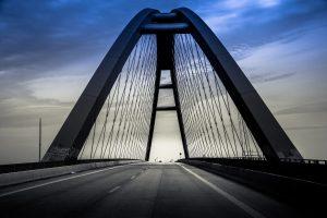Fahrt über die Fehmarnsundbrücke