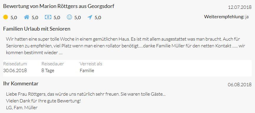 Bewertungen von Marion Röttgers aus Georgsdorf