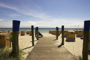 Südstrand mit Strandkörben, Foto von Stefan Sobotta, Tourismus Service Fehmarn