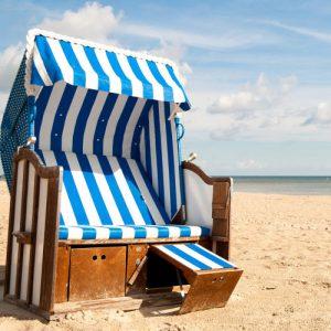 Strandkorb am Südstrand auf Fehmarn Ostsee